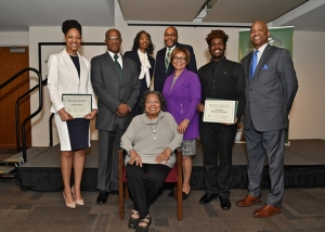 Dr. Mary Harper and Dr. Herman Thomas were honored for their service to campus.