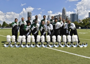 Pride of Niner Nation Marching Band at Bank of America Stadium in Charlotte