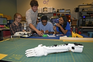 Students are creating 3D printed prosthetics in CCI's Makerspace Lab