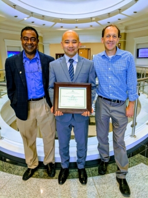 Arnab Baruah receives the Bharatkumar S. Joshi Memorial Scholarship